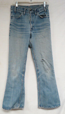 Vintage Levis Denim Jeans Orange Tab Talon Zipper 29 X 30 Unisex Distressed