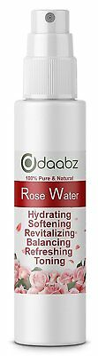 Daabz 100% Pure Rose Water Facial Toner Natural Face Spray Mist 50ml