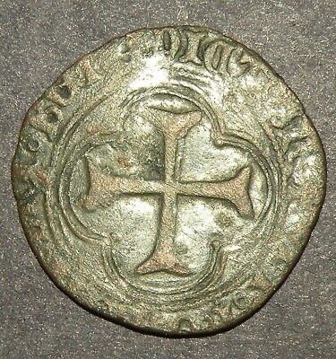 Crusader Cross Templar Coin 1200 -1400 Europe Medieval Antique  Ancient Copper+