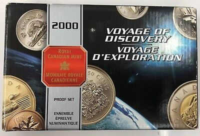 2000 Canada Proof 8-Coin Sterling Silver Voyage of Discovery Set RCM Box/COA
