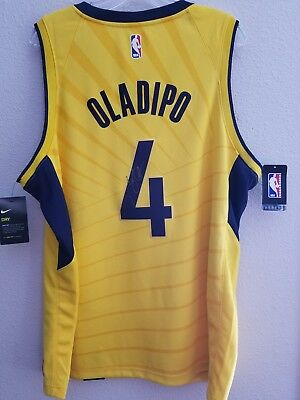cheap for discount c2112 edd9b MENS NIKE SWINGMAN Indiana Pacers Victor Oladipo Autographed Jersey #4  Yellow XL