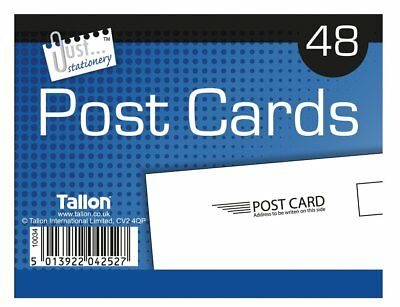 Just Stationery Plain White 140x100mm Post Card (Pack of 48) (4252)