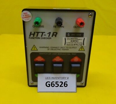 Compliance West HTT-1R Function Checker Used