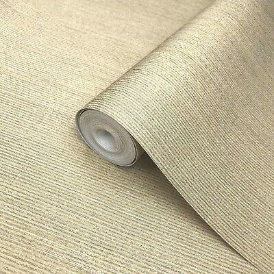 Paste the Wall Only Portofino Wallpaper Gold Metallic Textured Plain Modern Roll