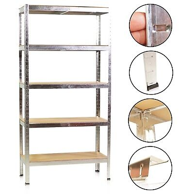 Heavy Duty Shelf Warehouse Zinc Plated Cellar Stacking Rack Workshop
