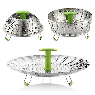 Zanmini Vegetable Steamer Basket,Stainless Steel Adjustable Collapsible Steam...