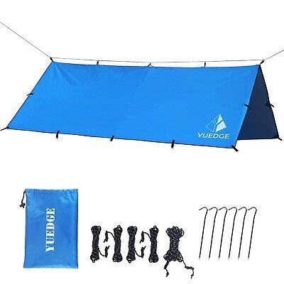 Good Camping /&Hiking/&Backpacking Anyoo Waterproof Portable Tarp Tent Rain Fly Shelter Sunshade 10 x 10 Ft Lightweight Ropes Stakes