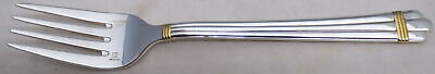 Christofle France Aria Gold (Silverplate, Gold Accent) Individual Salad Fork
