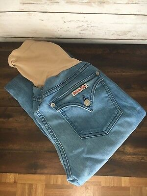 Hudson Maternity Jeans Pea In The Pod Size 29 Light Wash Stretchy Inseam 28.5