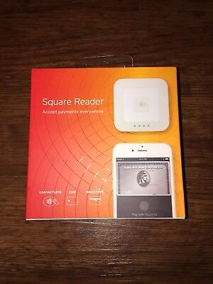 Brand new in box Square contactless, chip reader, and card wipe.