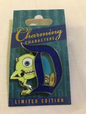 Disney MIKE Charming Characters Pin Disneyland Month D LE 3000 Monsters Inc
