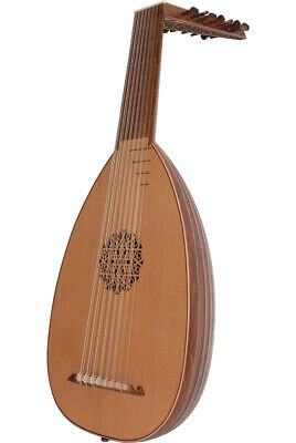 DELUXE ROOSEBECK SOLID CANADIAN CEDAR 8-COURSE LUTE w/ GIG BAG & PLAY BOOK
