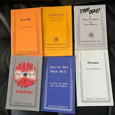 Lot of 6 Samuel French Scripts Acting Comedy Drama Theater