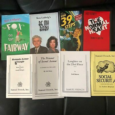Lot of 8 Samuel French others Scripts Acting Comedy Drama Theater