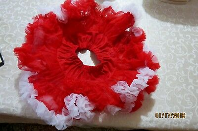 Red and White Tutu from Mud Pie Baby, size S