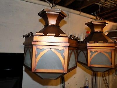 Vintage Pair Arts And Crafts Light Fixtures