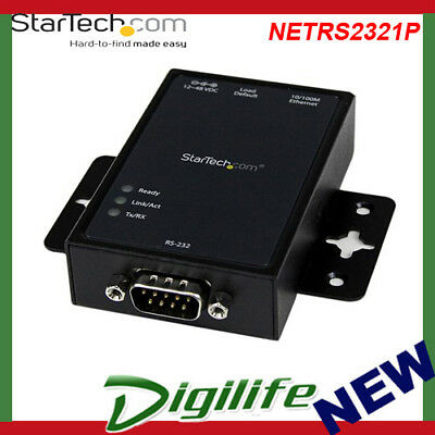 StarTech1 Port Serial-to-IP Ethernet Device Server RS232 DIN Rail