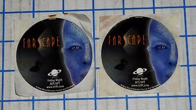 Lot of 2 Farscape Sci-Fi TV Series Promotional Sticker Handouts Jim Henson 2000