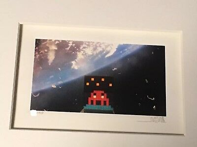 invader art 4 space rare rare edition of 50 original signed and numbered print