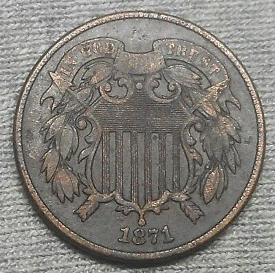 1871 Two Cents Coin