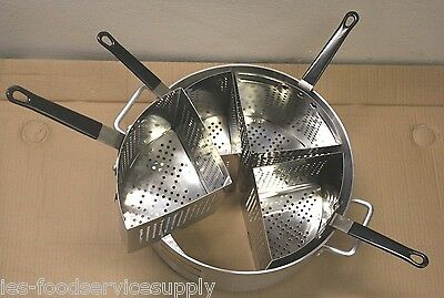 5 Piece Pasta Cooker Set - 4 Baskets & 20 Quart Boiler Heavy Duty Commercial Pot