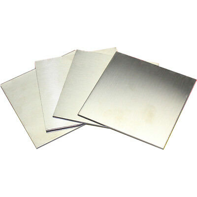 1pcs 304 Stainless Steel Fine Polished Plate Sheet 0.35 1 2mm 10*10-30*30cm