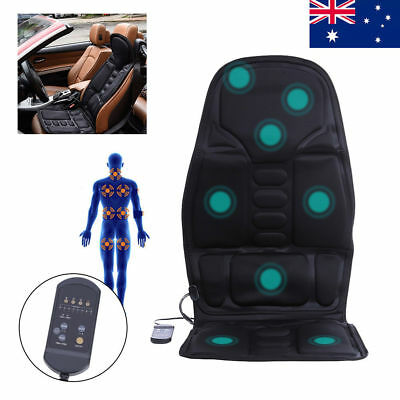 Back Massage Chair Heat Seat/Cushion Neck Pain Lumbar Support Pad Car Home Relax