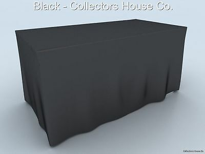 Craft Show 6' Fitted Table Cover Display Wrinkle Free
