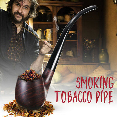Durable Ebony Wooden Enchase Smoking Filter Pipe Tobacco Cigarettes Pipes Gift