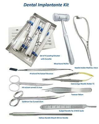 Dental Kit Minnesota, Castroviego, Mathieu, Pritchard Elevator, Adson,Bone Melat