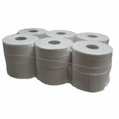 12 x Quality Mini Jumbo Toilet Tissue Rolls |150M x 90mm | 2PLY | 76mm/3'' core.