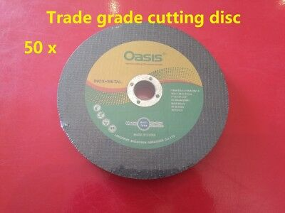 50 pieces x 180mm cutting discs cut off wheel for angle grinder inox metal
