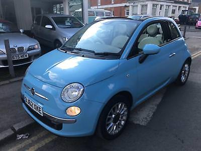 2012 62 Fiat 500 1.2 Lounge CONVERTIBLE - VERY LOW MILES - 1 OWNER