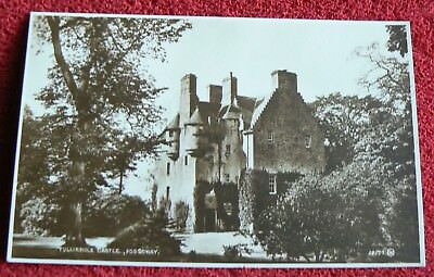 """Valentines postcard showing a view of""""Tullibole Castle, Fossoway"""" - posted 1930"""