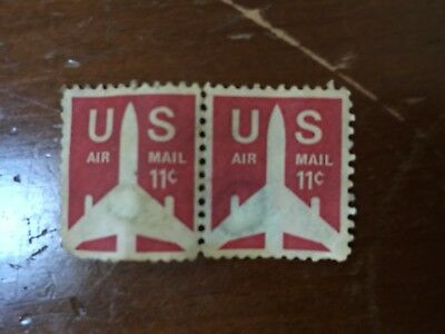 Vintage US Stamps--2-Air Mail 11cents+ 1-Eisenhower 8c+ 1-Buffalo Bill Cody 15c