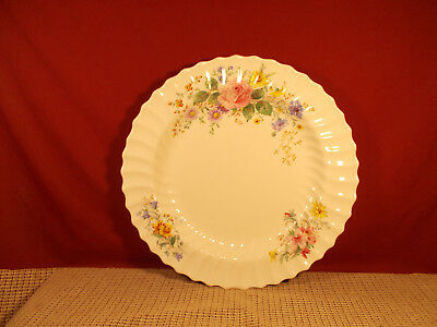 Royal Doulton China Arcadia (Older,Green Backstamp) Chop Plate 12 1/4""