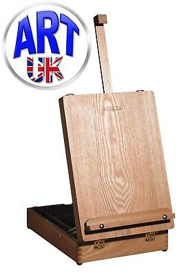 Winsor & Newton MEDWAY Table Box Easel Artist Craft Paint Integrated Wooden Box