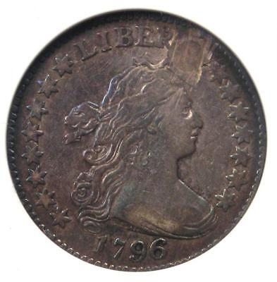 1796 Draped Bust Dime 10C - Certified ANACS VF20 Details - Rare First Year Coin!