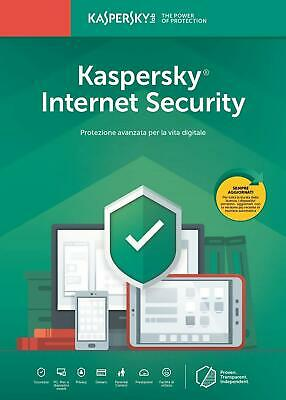 Kaspersky Lab Internet Security 2019 - NUOVO BLISTERATO E SIGILLATO