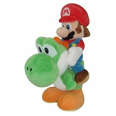 Little Buddy Mario Riding Yoshi 8 Plush