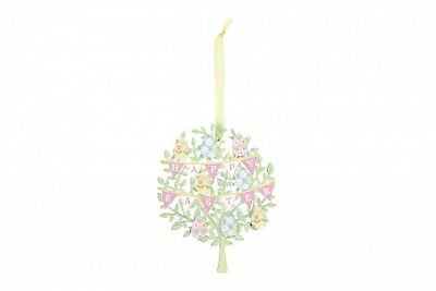 Gisela Graham Pretty Fretwork Happy Easter Decoration - Hanging Easter Cut Out