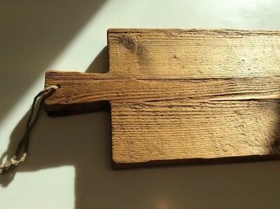 """Vintage Bread Board Cutting Serving Reclaimed Wood 36"""" French County European"""
