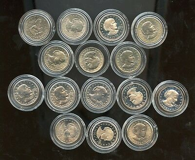 1979-1981 Susan B. Anthong Dollar Collection 15 Coin Set Bi804
