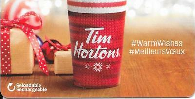 *NEW* 2017-WARM WISHES-Tim Hortons Tim Card-NEW-CHRISTMAS TIME-FD #  FD-59745