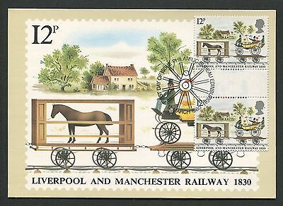 GB UK MK 1980 KUTSCHE PFERD HORSE GUTTER PAIR! MAXIMUM CARD MC CM d4670