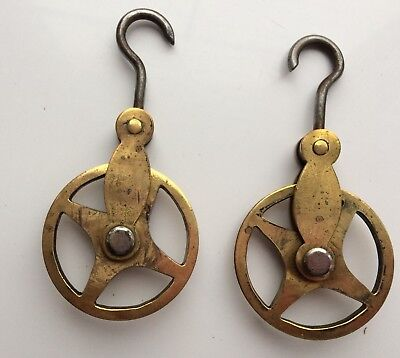 Two Matching Brass Pulleys For Longcase Clock