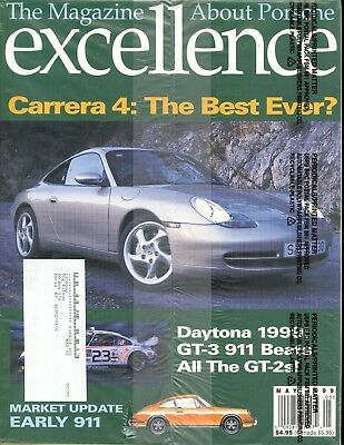 Porsche Excellence Magazine #85 May 1999 Carrear 4: The Best Ever? *SEALED*