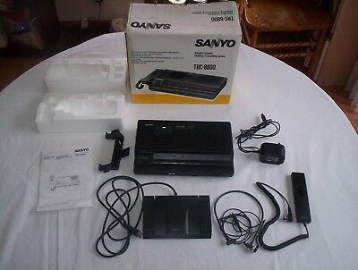 Sanyo TRC-8800 Standard Cassette Dictating/Transcribing System Tested