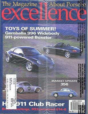 Porsche Excellence Magazine #94 June 2000 Gemballa 996 Widebody *SEALED*