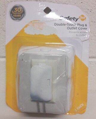 Safety 1st Double Touch Plug & Outlet Cover 2 Outlet Covers Kids Protection NEW